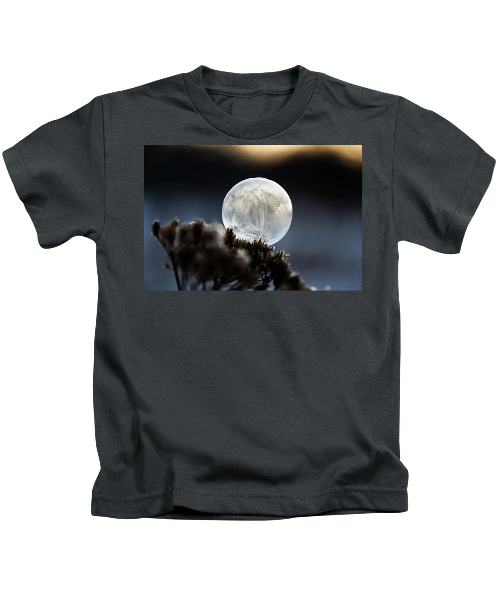 Bubble Kids T-Shirt featuring the photograph Frozen In Time by Christina VanGinkel