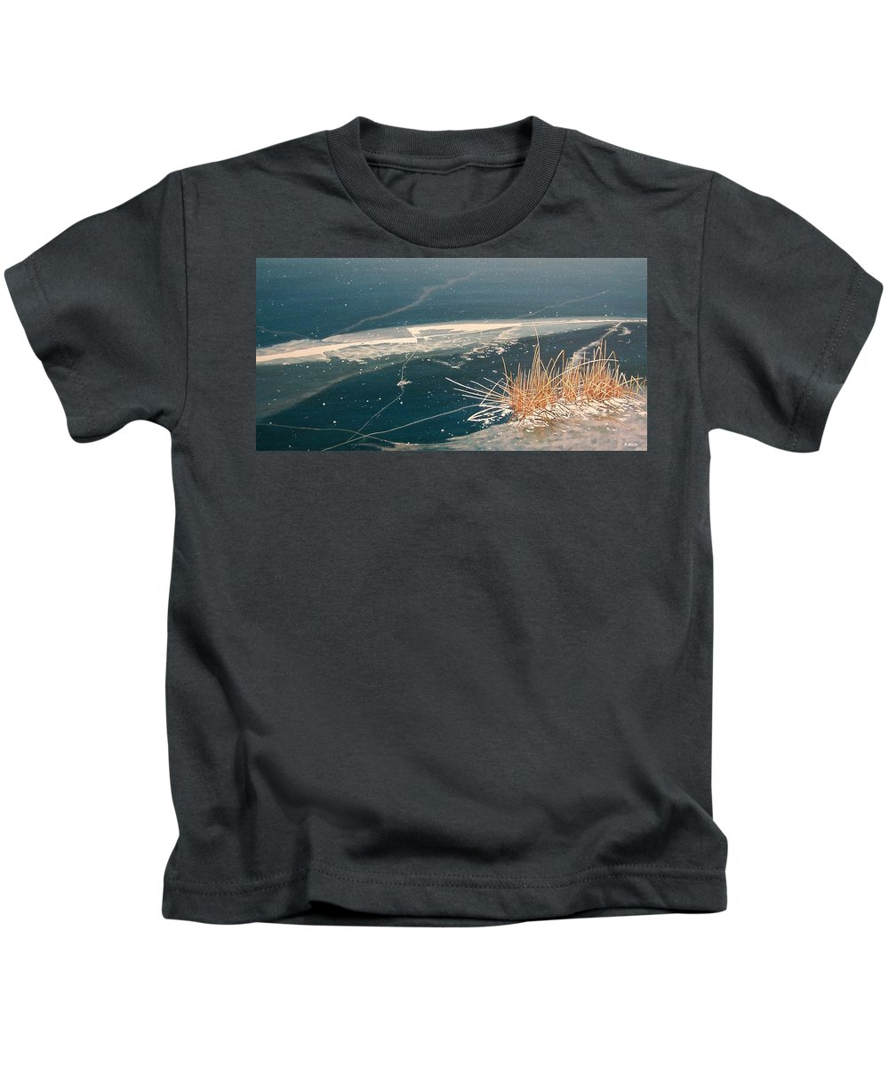 Llandscapes Kids T-Shirt featuring the painting Frozen In Time by Kenneth M Kirsch
