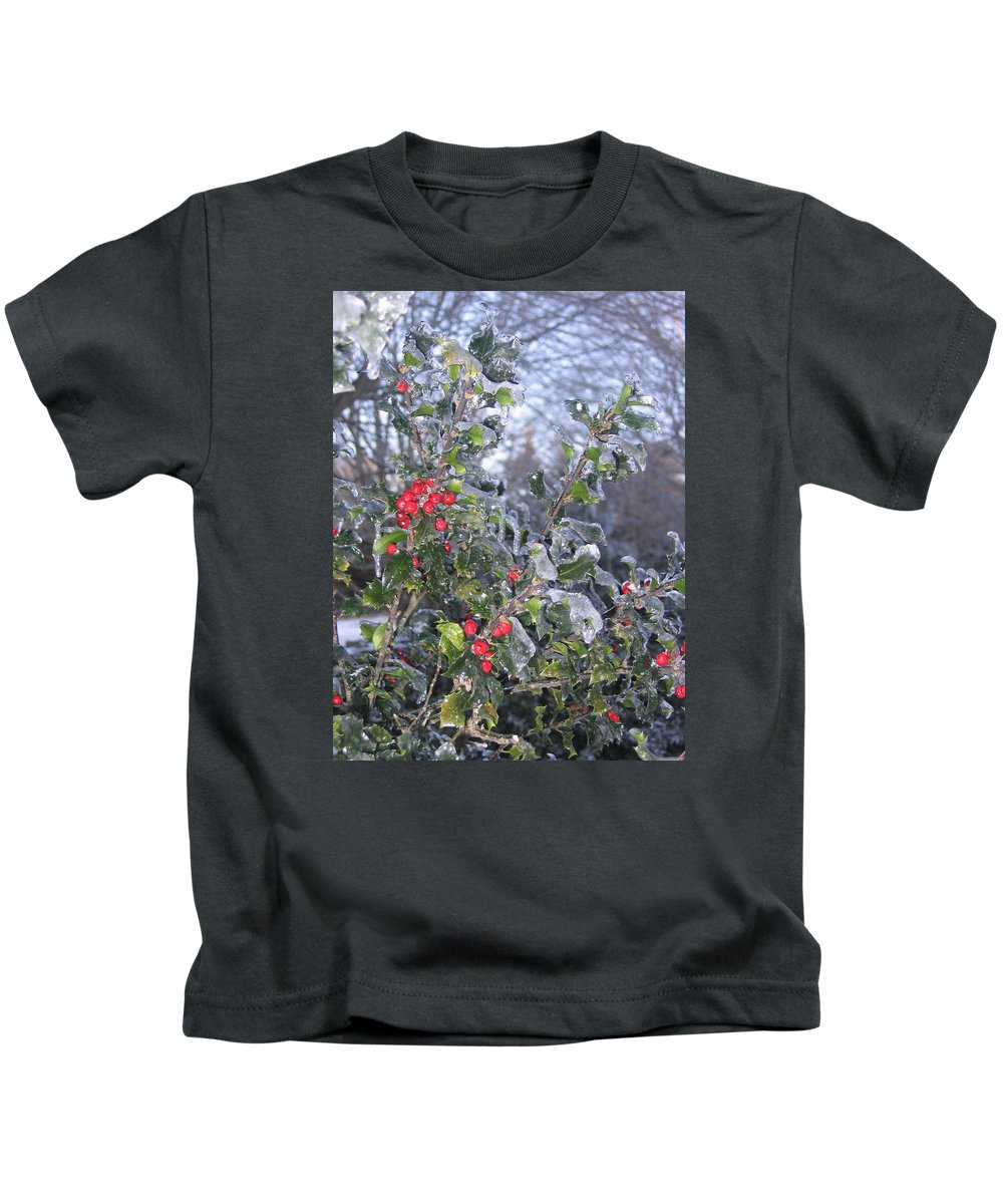 Winter Kids T-Shirt featuring the photograph Frozen In Time by Paula Emery