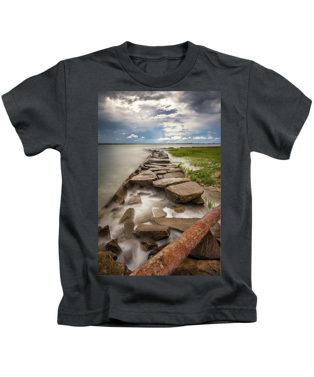 Sullivan's Island Kids T-Shirt featuring the photograph Frozen In Time - Sullivan's Island, Sc by Donnie Whitaker