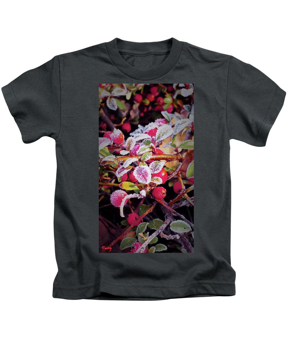 Nature Kids T-Shirt featuring the photograph Frozen by Timothy Porter