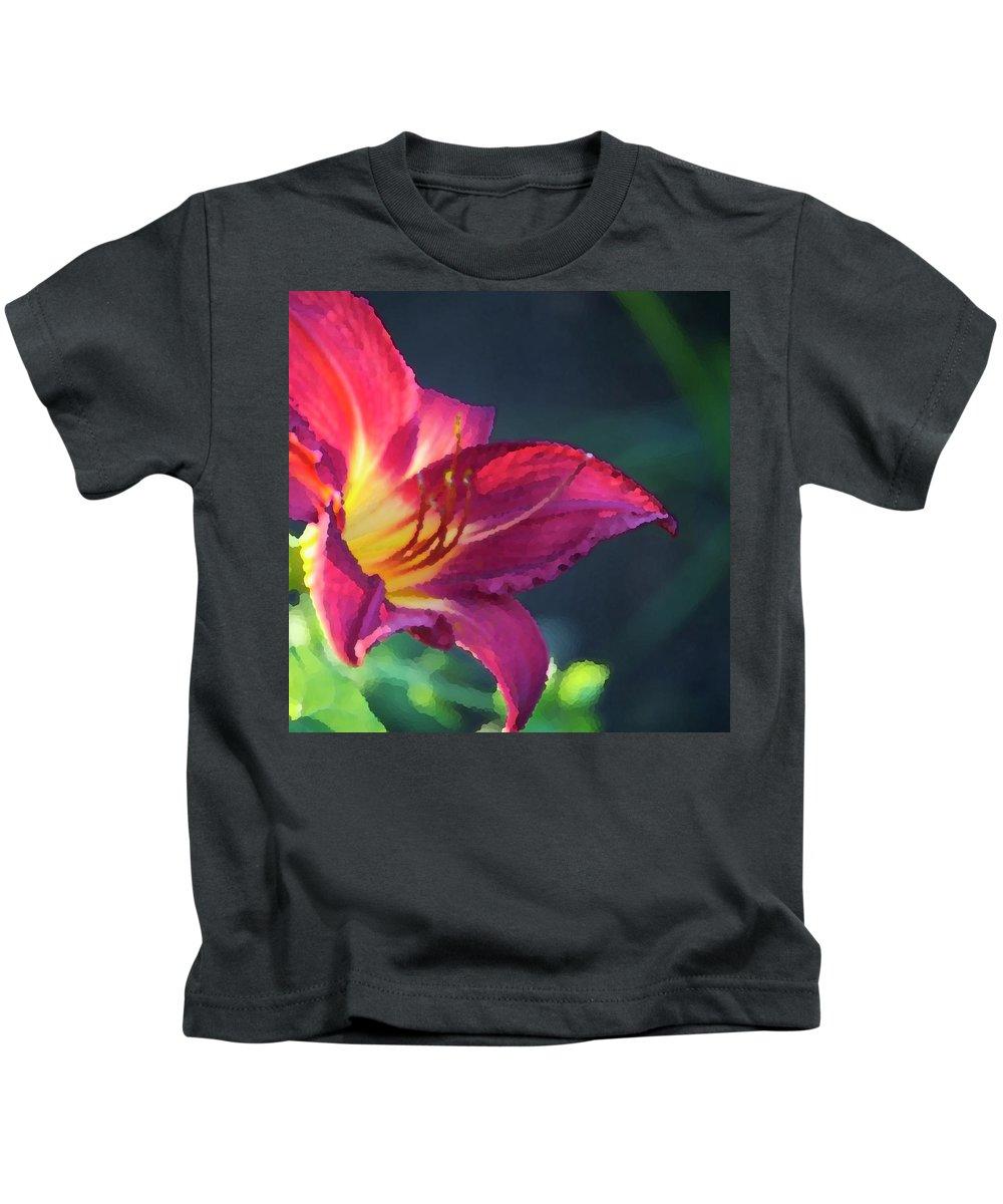Fuchsia Kids T-Shirt featuring the photograph Fuchsia Palette by Debbie Karnes