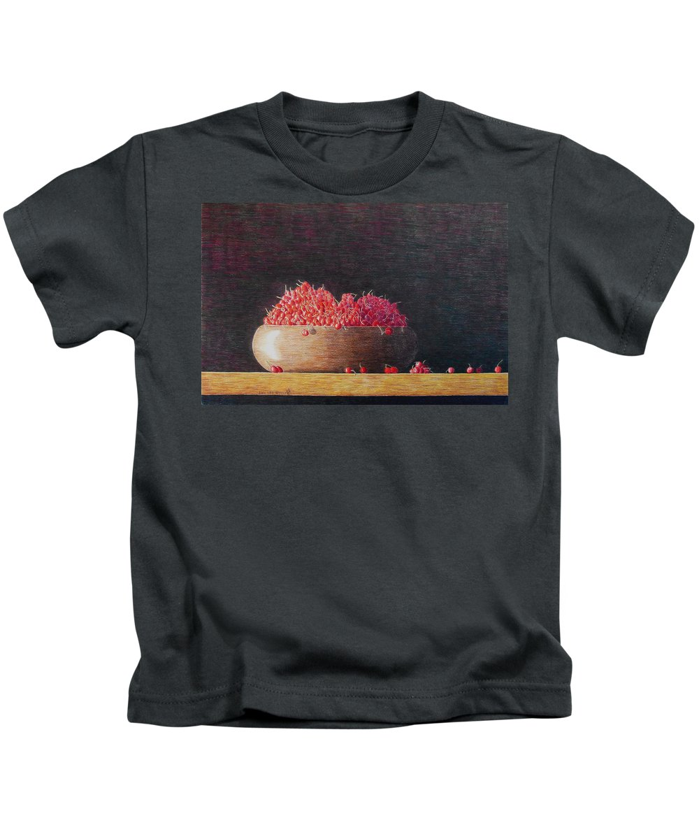 Still Life Kids T-Shirt featuring the painting Full Life by A Robert Malcom