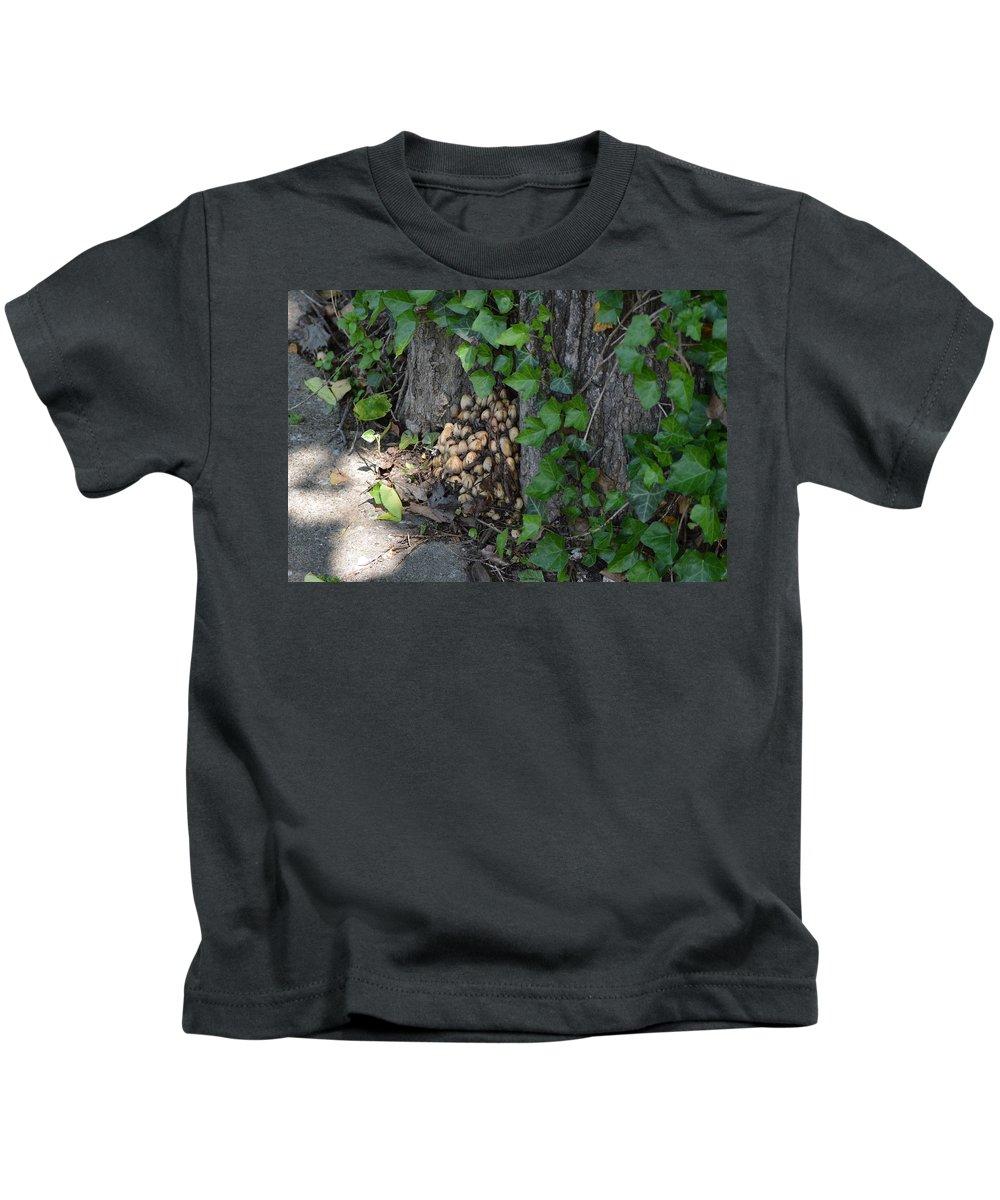 Fungus Kids T-Shirt featuring the photograph Fungus At Base Of Tree by Belinda Stucki