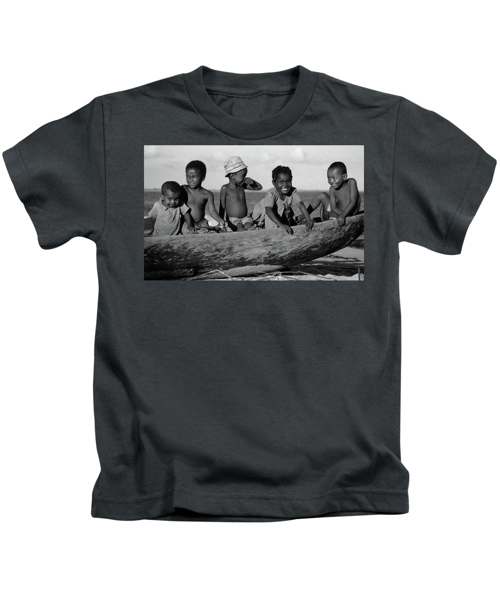 Children Kids T-Shirt featuring the photograph Future Sailors by Bruce J Robinson