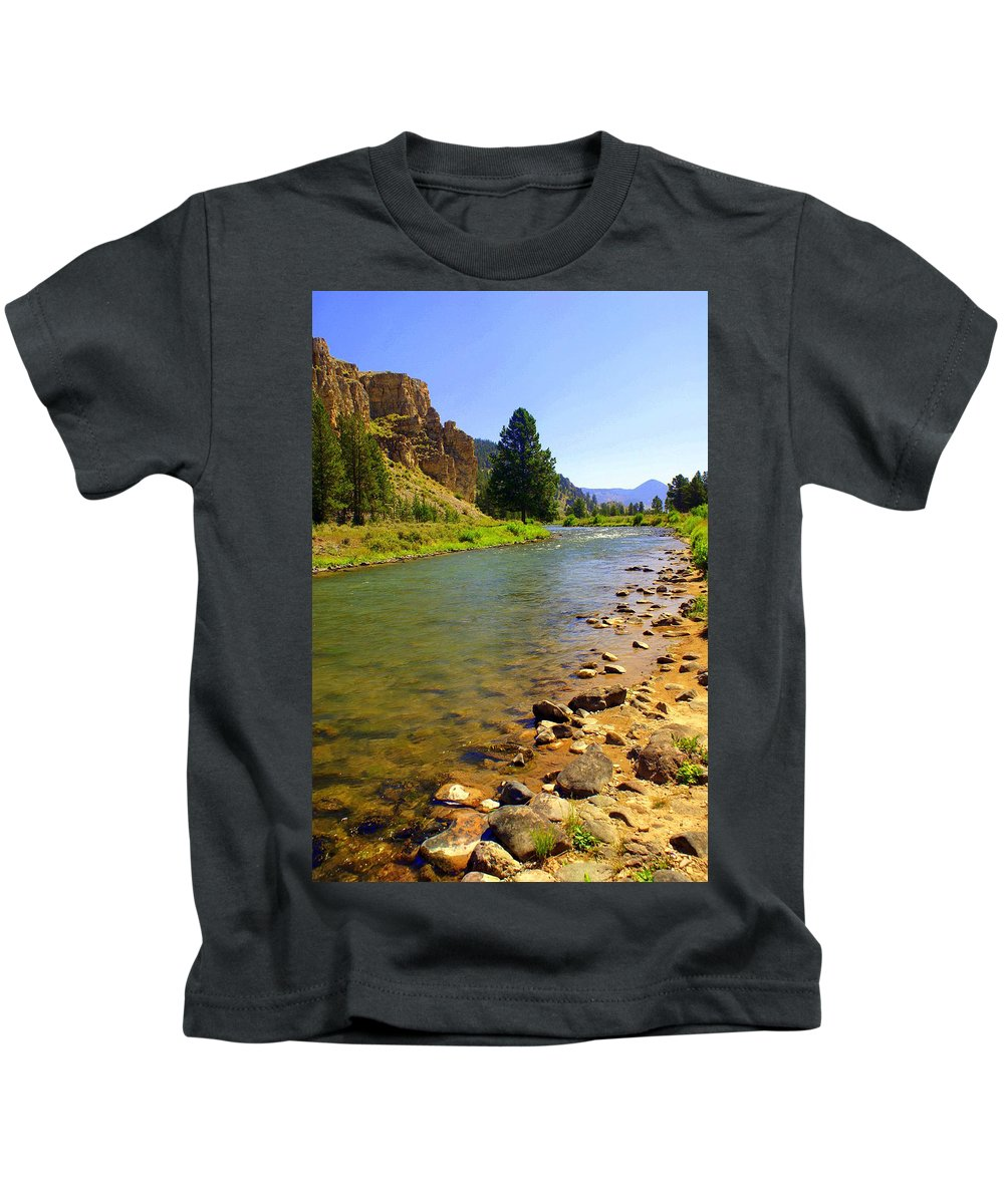 Gallitan River Kids T-Shirt featuring the photograph Gallitan River 1 by Marty Koch