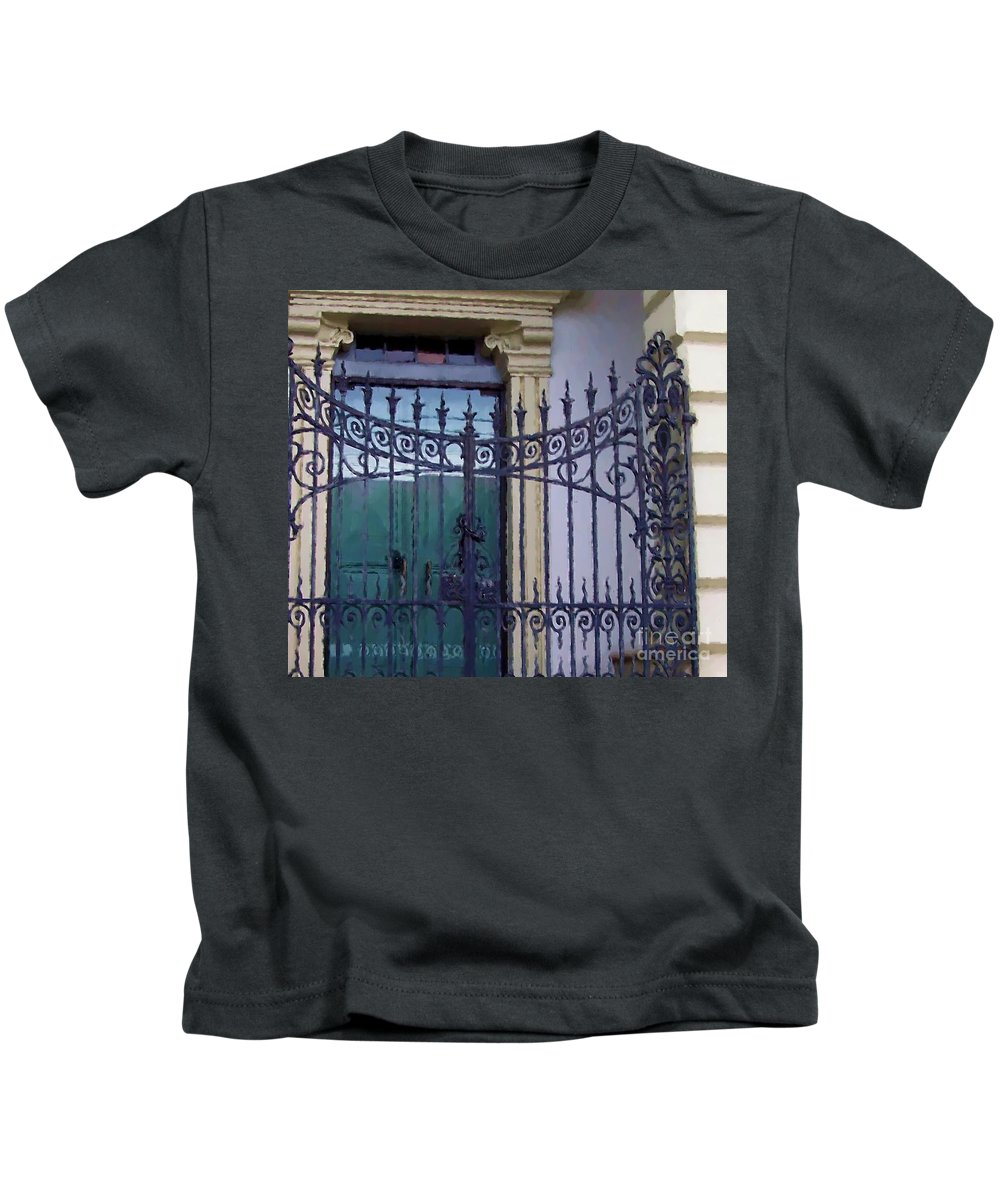 Gate Kids T-Shirt featuring the photograph Gated by Debbi Granruth