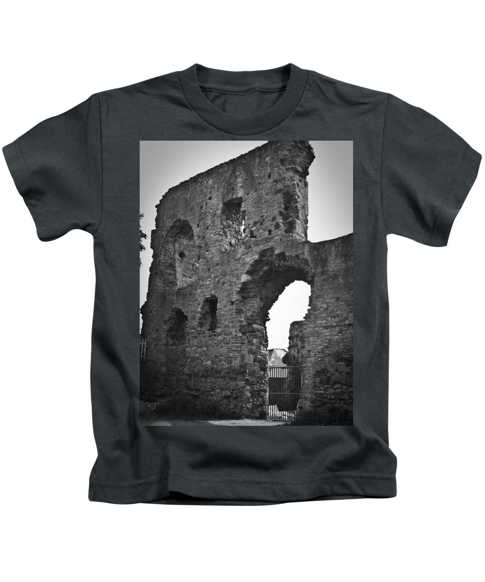 Ireland Kids T-Shirt featuring the photograph Gatehouse At Nenagh Castle Ireland by Teresa Mucha