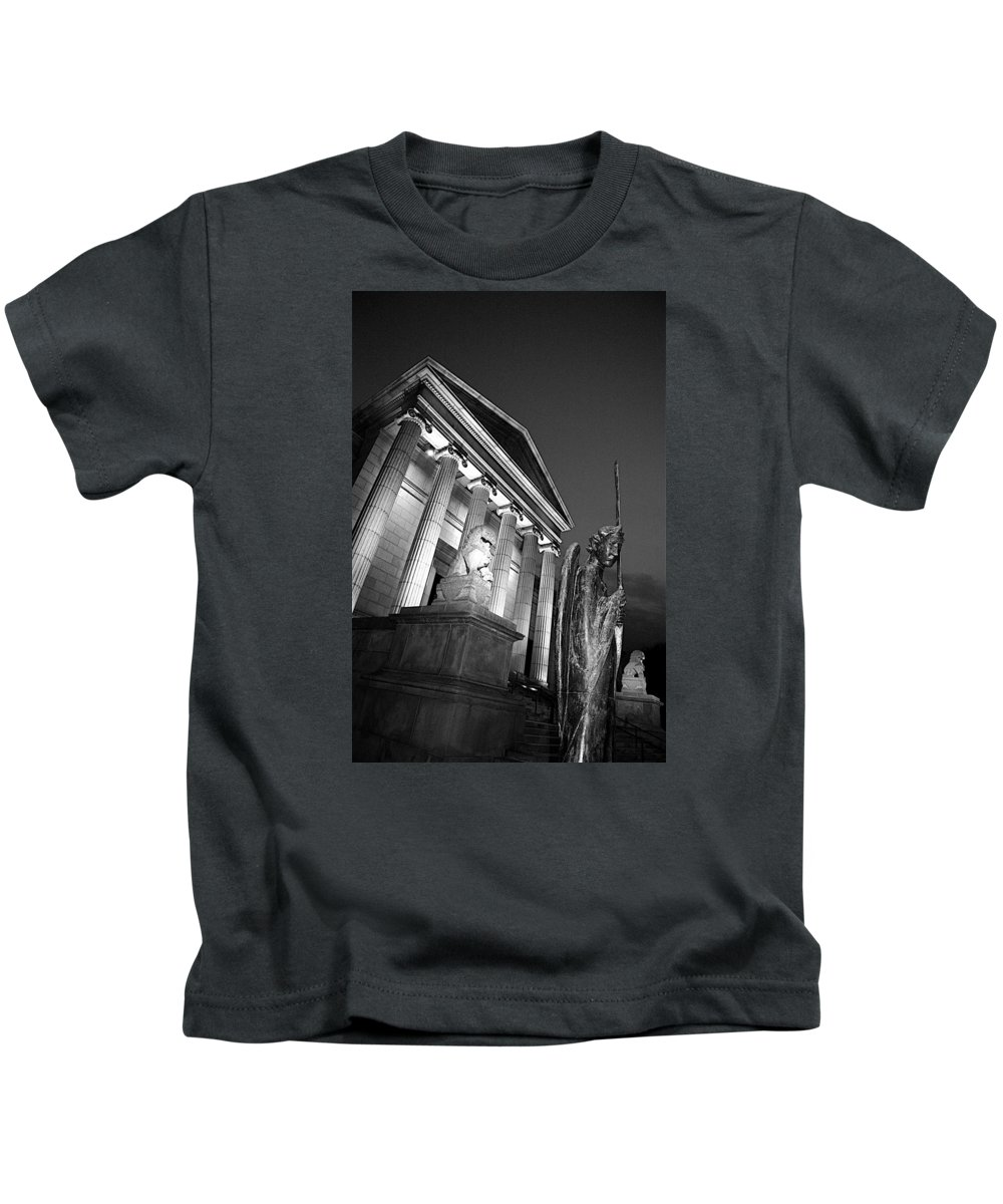 Black And White Kids T-Shirt featuring the photograph Gaurdian by Alvin Sangma