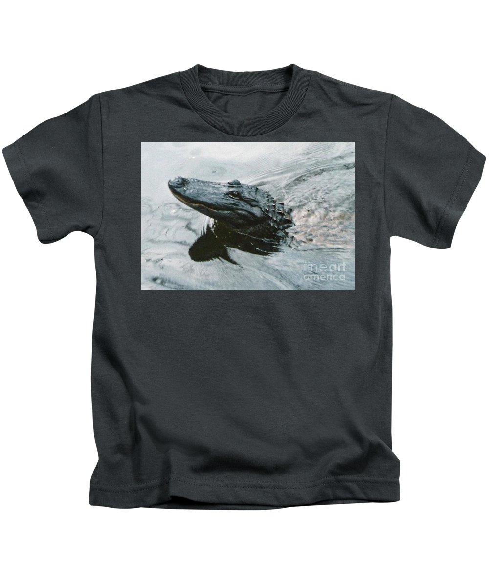 Alligator Kids T-Shirt featuring the photograph Genuine New O Alligator by Chris Colibaba