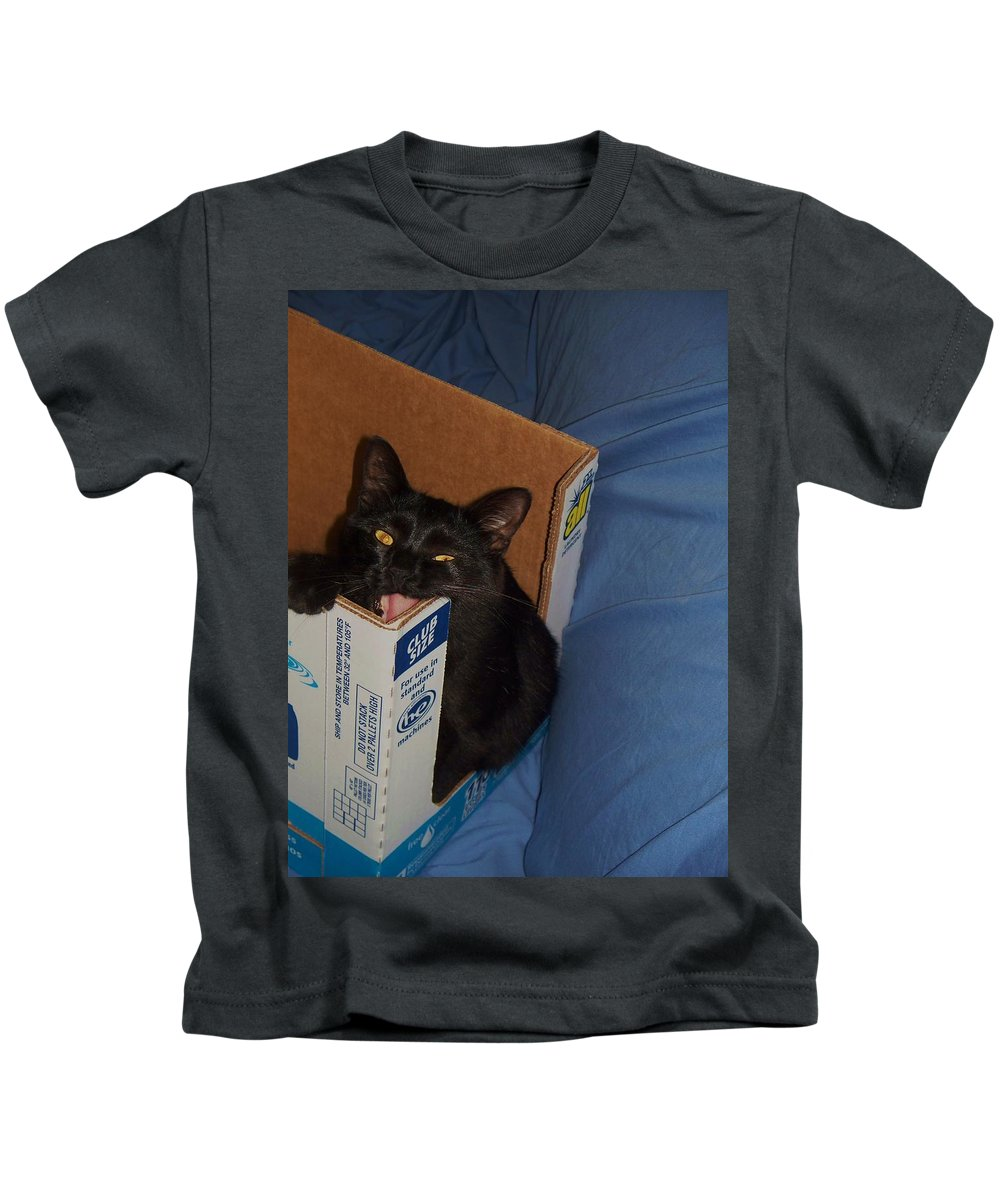 Cat Kids T-Shirt featuring the photograph Gepptto The Cat by Eric Schiabor