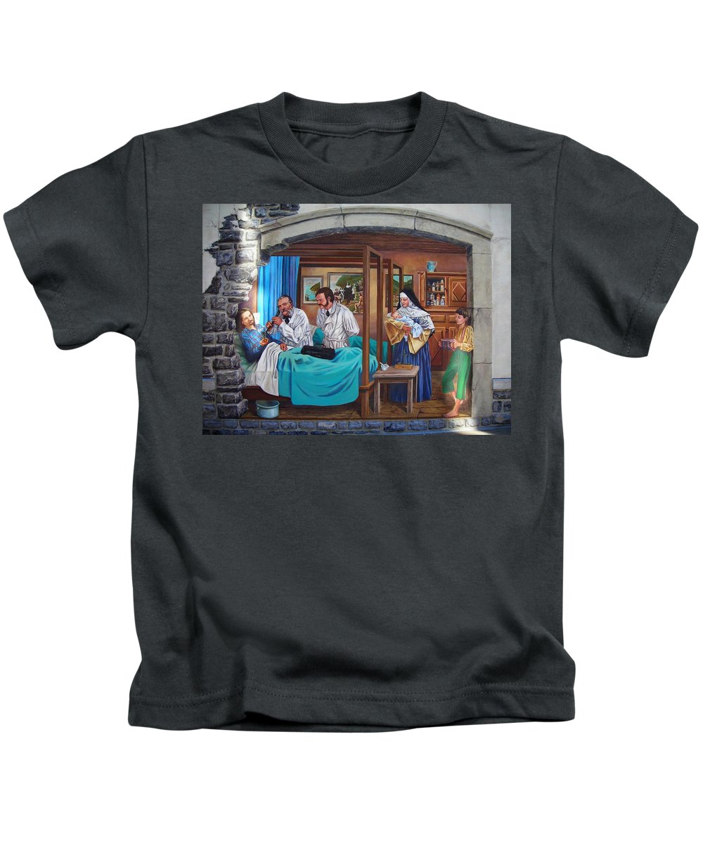Paint Kids T-Shirt featuring the photograph Get Well Soon ... by Juergen Weiss