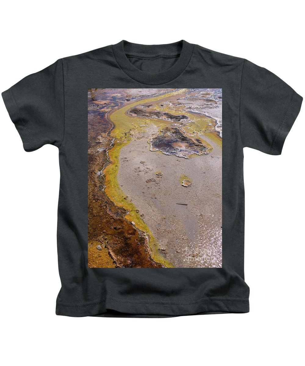 Wyoming Kids T-Shirt featuring the photograph Geyser Basin Springs 4 by Tracy Knauer