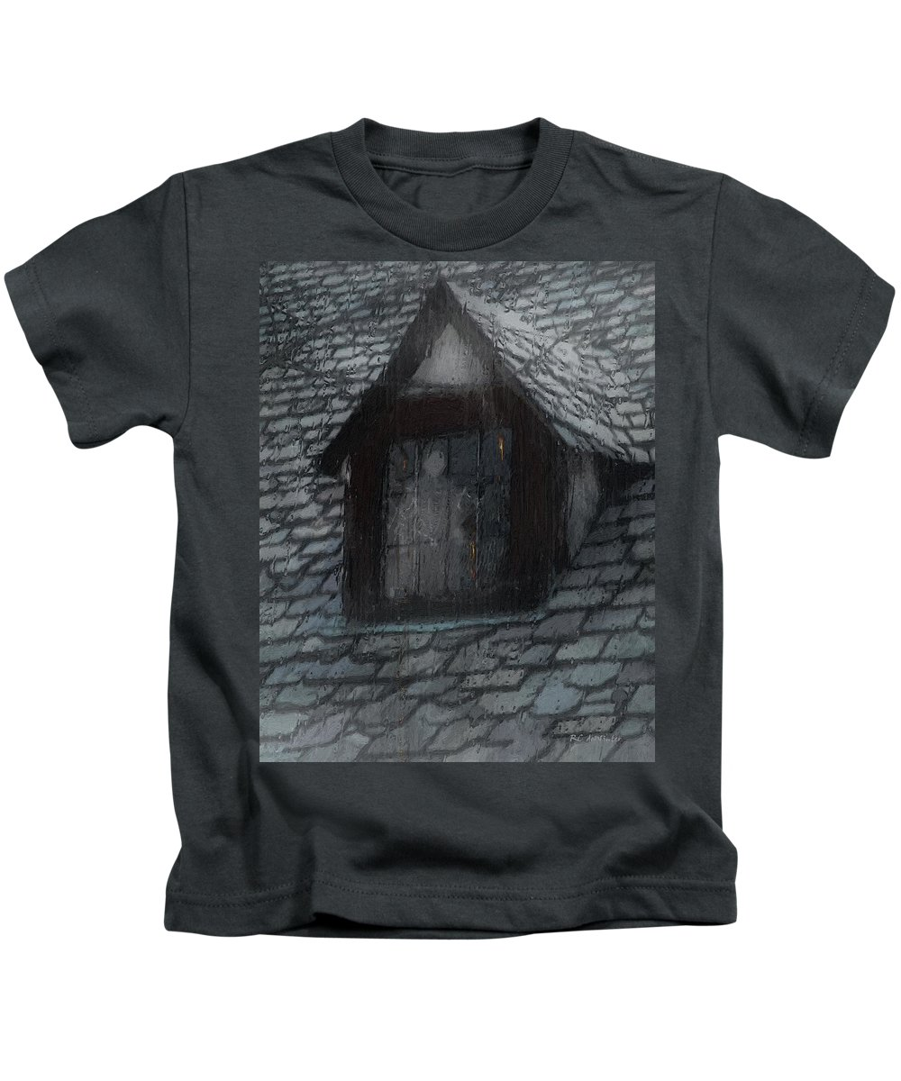 Ghost Kids T-Shirt featuring the painting Ghost Rain by RC deWinter