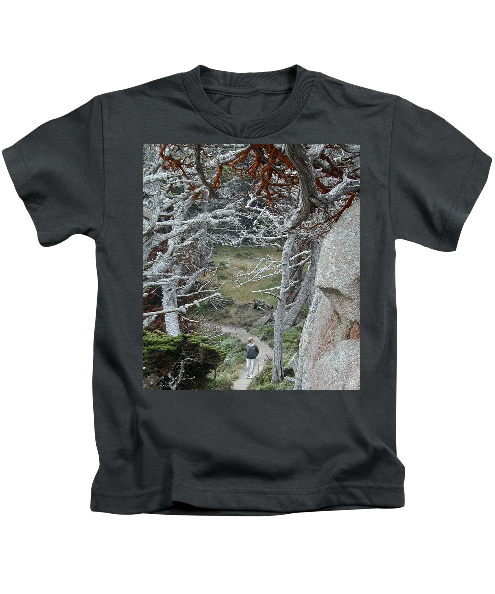 Lichens Kids T-Shirt featuring the photograph Ghost Trees by Douglas Barnett