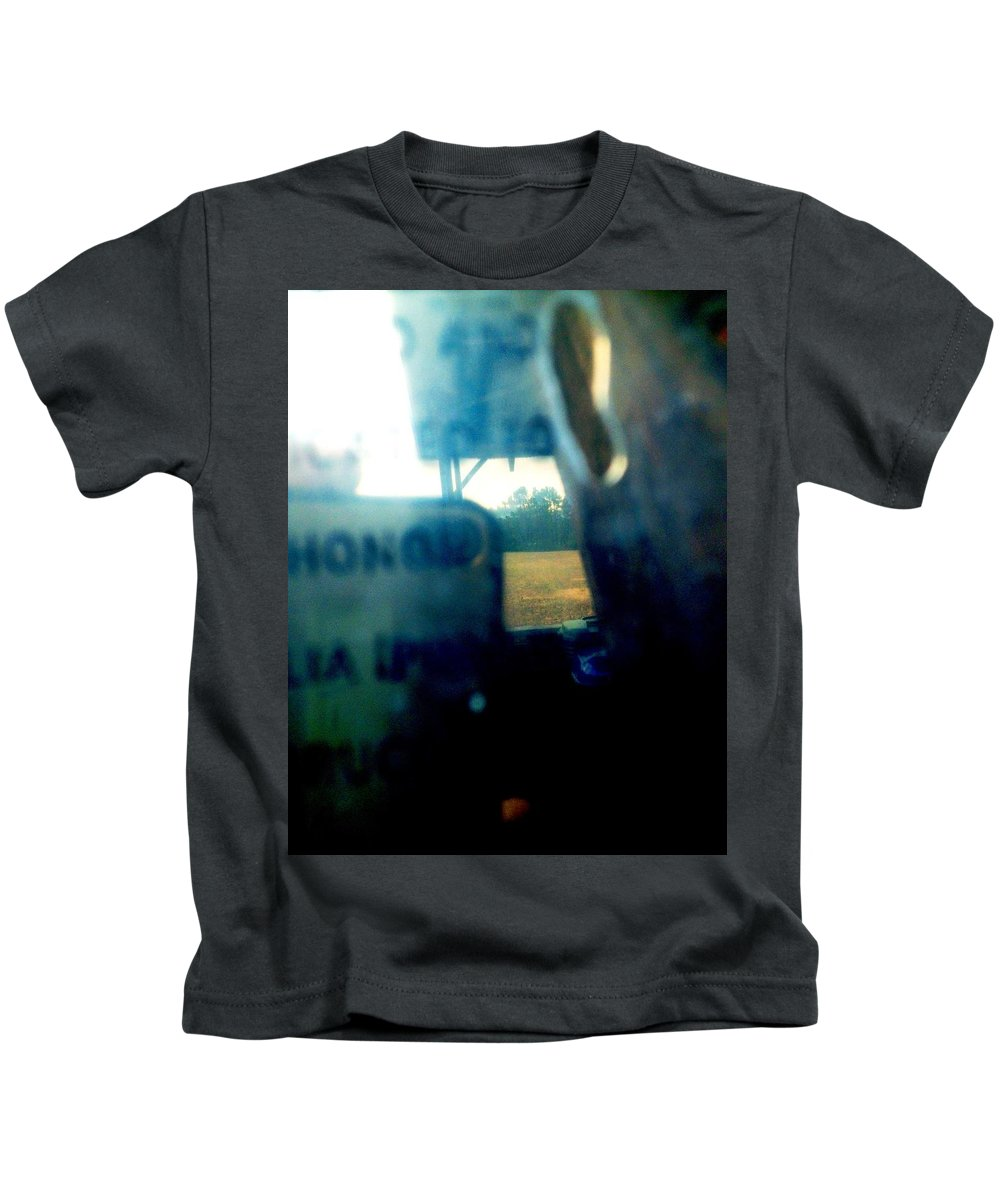 Ghosts Kids T-Shirt featuring the photograph Ghostly Haze by Lord Frederick Lyle Morris - Disabled Veteran