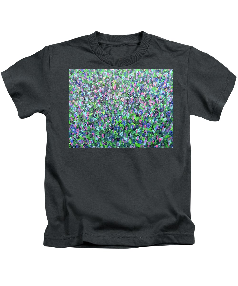 Marwan George Khoury Kids T-Shirt featuring the painting Gisement De Lavande by Marwan George Khoury