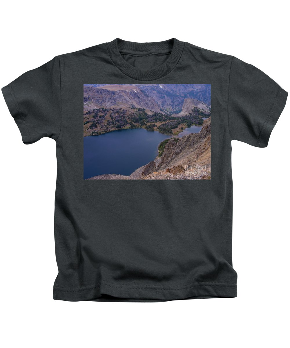 Montana Kids T-Shirt featuring the photograph Glacier Lake 2 by Tracy Knauer