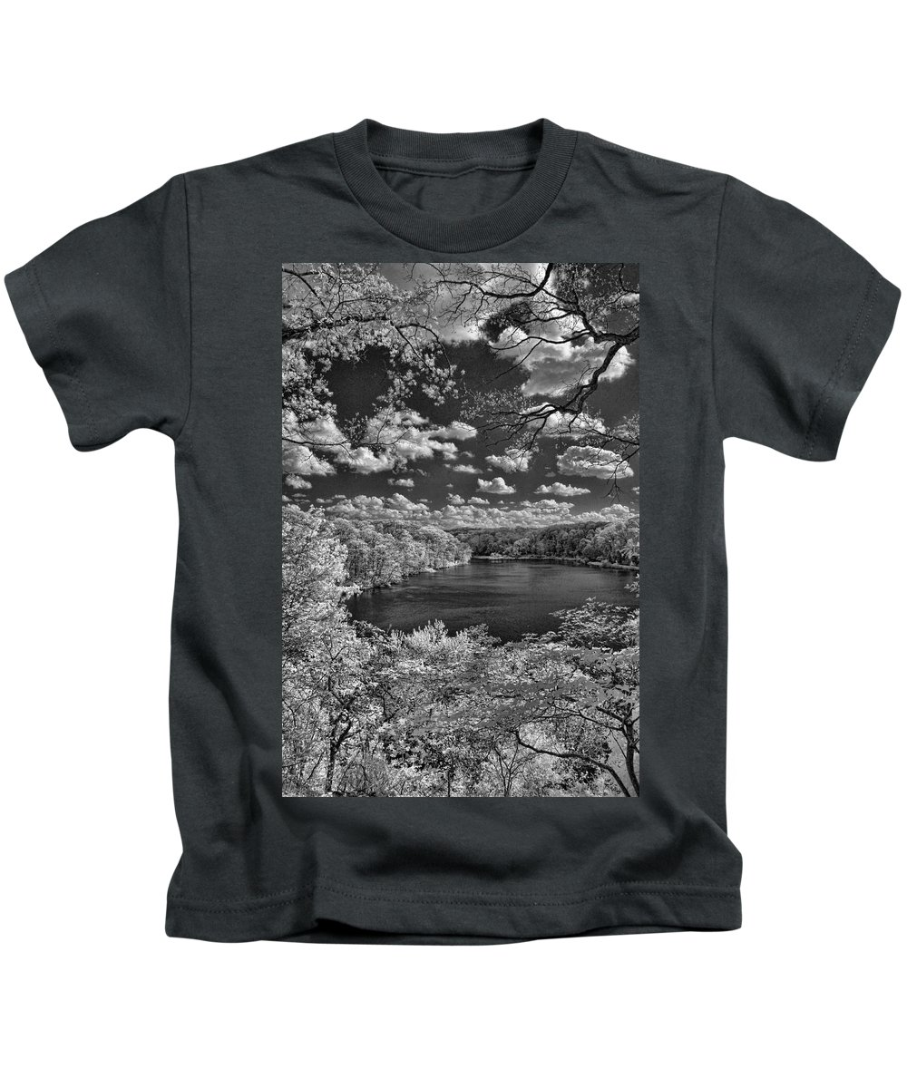 Infrared Kids T-Shirt featuring the photograph Glacier Lake by Michael McGowan
