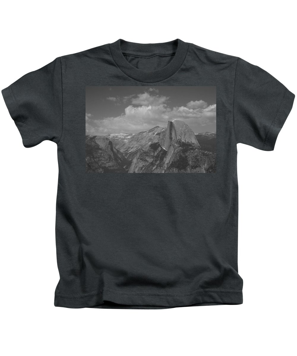 Half Dome Kids T-Shirt featuring the photograph Glacier Point by Travis Day
