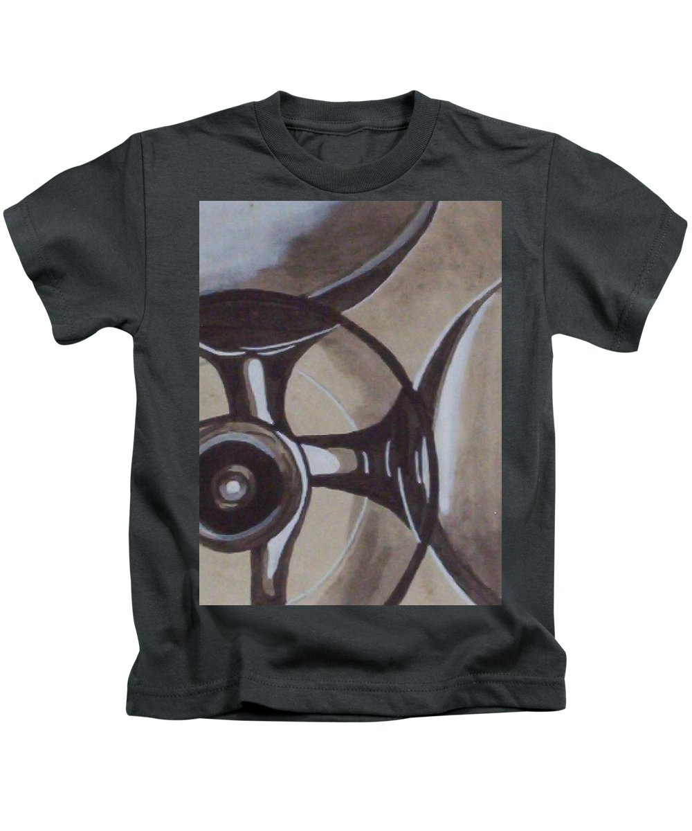 Glasses Kids T-Shirt featuring the painting Glasses by Joan Stratton