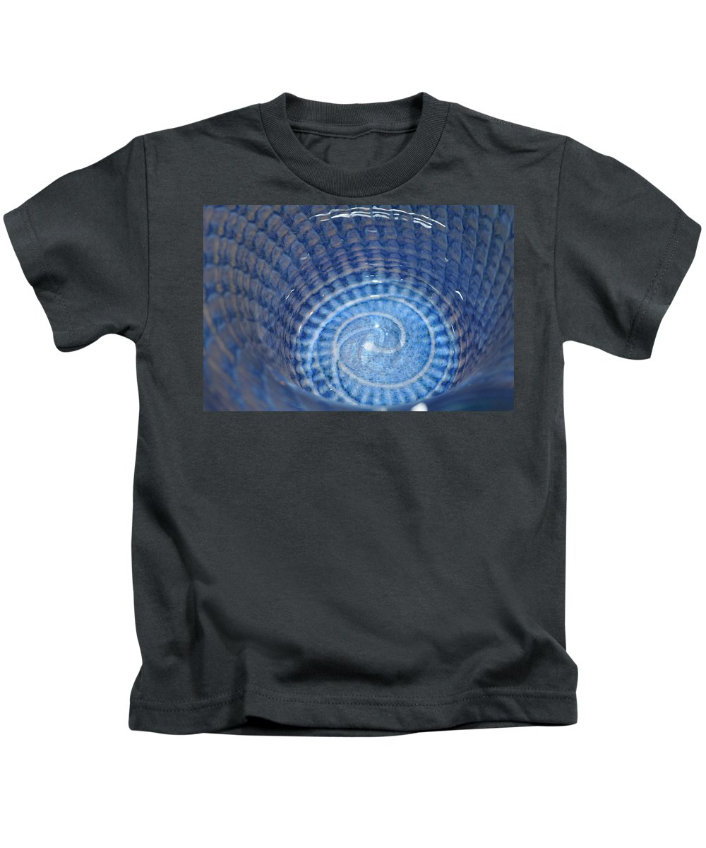 Abstract Kids T-Shirt featuring the photograph Glassworks 3 by Marty Koch