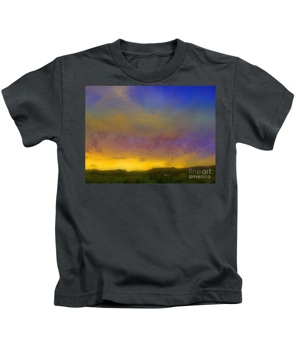 Sunset Kids T-Shirt featuring the photograph Glorious Skies by Tara Turner