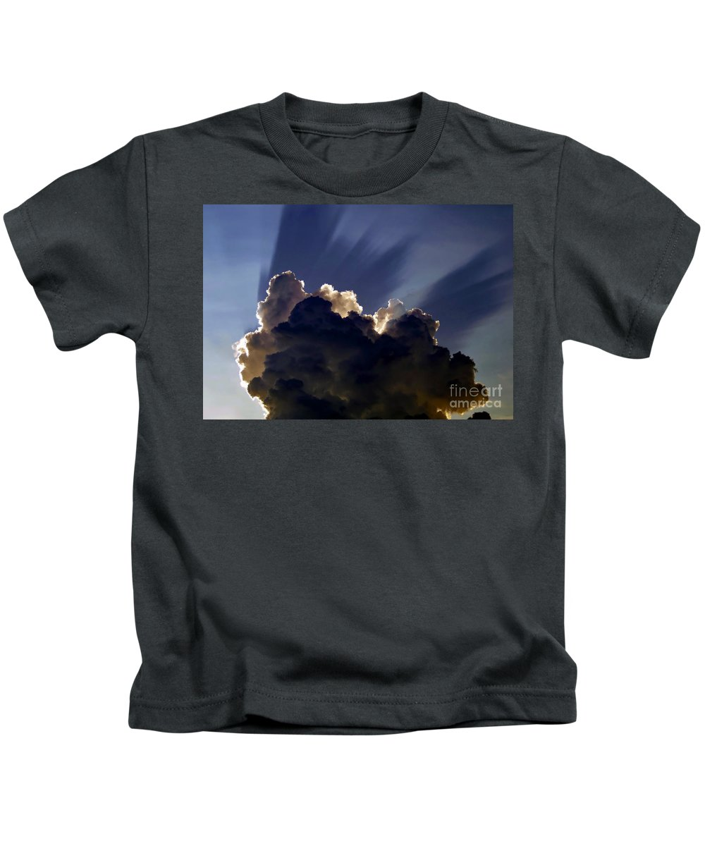 God Kids T-Shirt featuring the painting God Speaking by David Lee Thompson