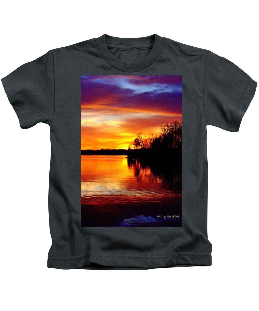 Life Is Good Kids T-Shirt featuring the photograph God's Work by FreeBird Skains