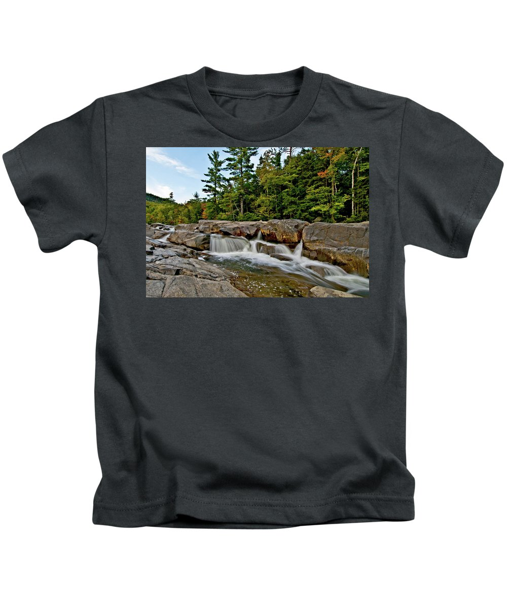 lower Falls Kids T-Shirt featuring the photograph Going With The Flow by Paul Mangold