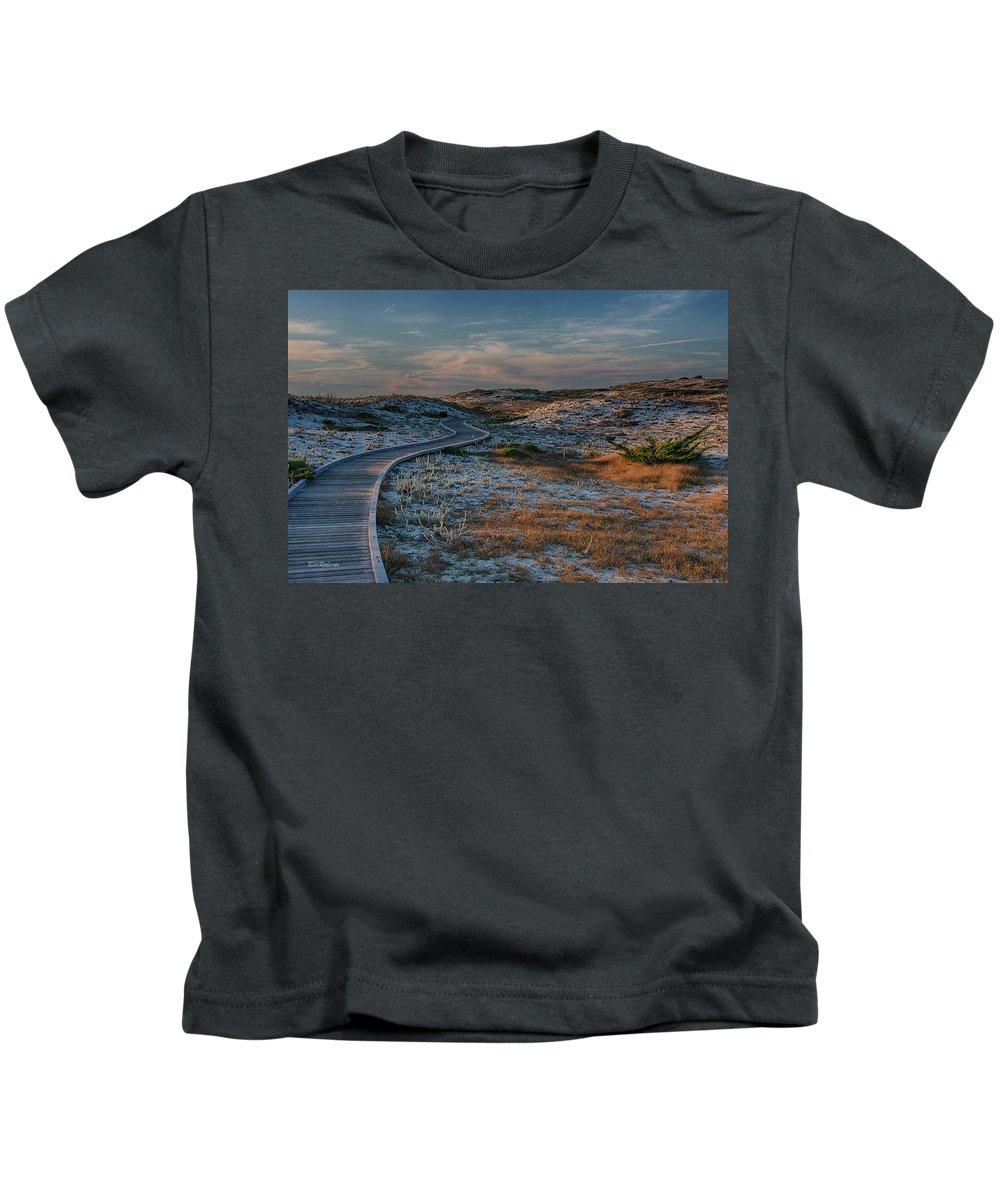 Asilomar Kids T-Shirt featuring the photograph Golden Dunes by Bill Roberts