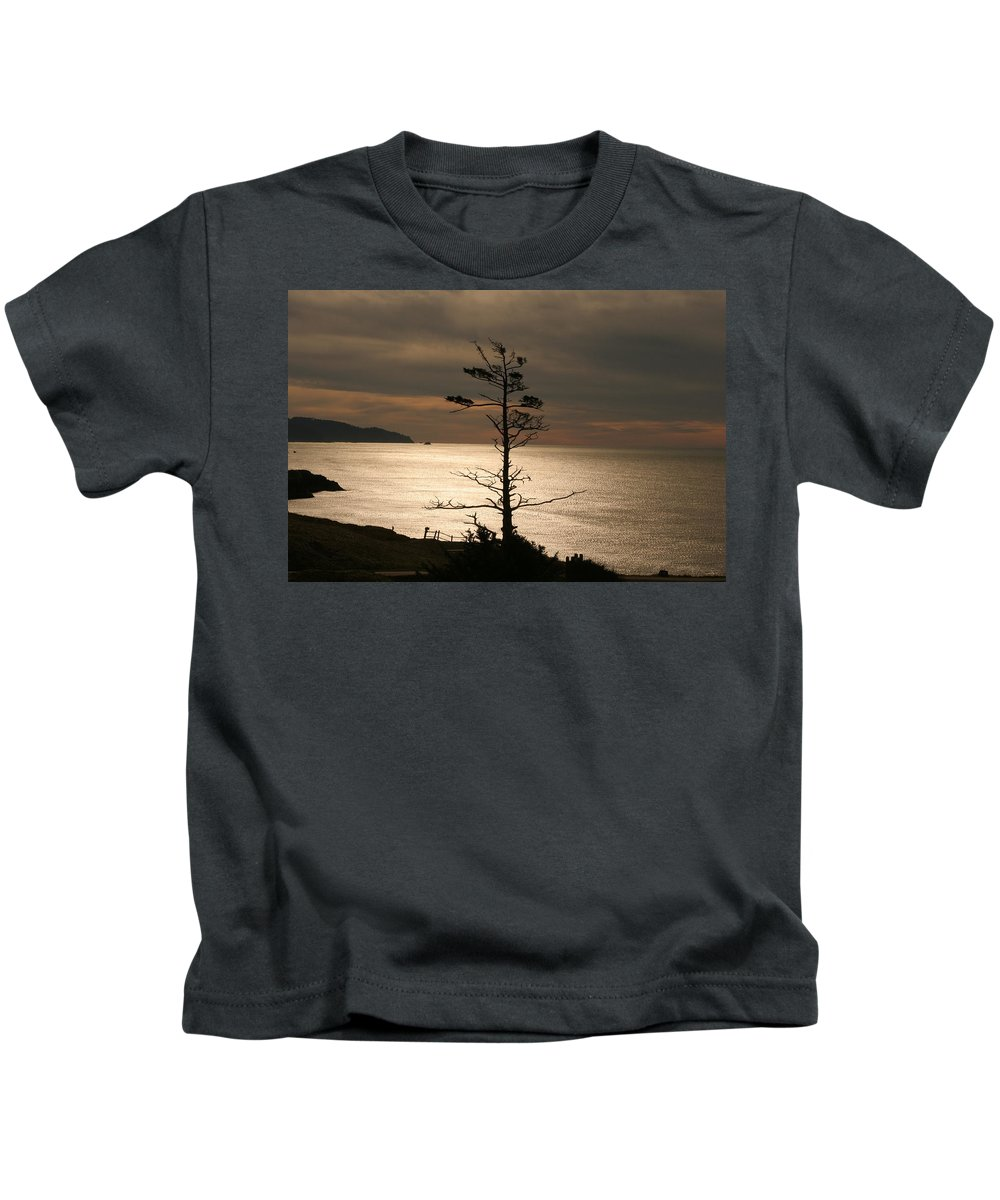 Golden Reflections Kids T-Shirt featuring the photograph Golden Reflections by Wes and Dotty Weber