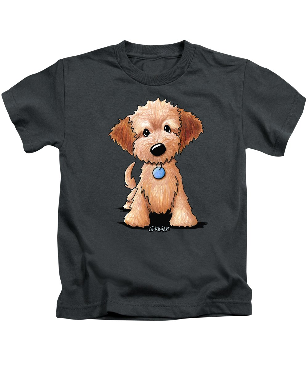 Goldendoodle Puppy Kids T Shirt For Sale By Kim Niles
