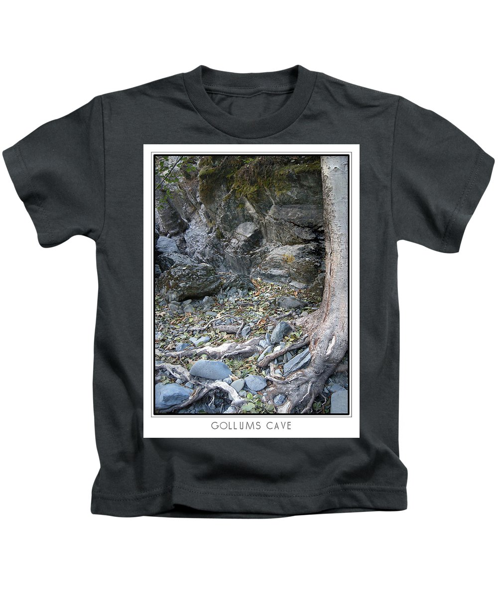 Trees Kids T-Shirt featuring the photograph Gollum's Cave by Karen W Meyer