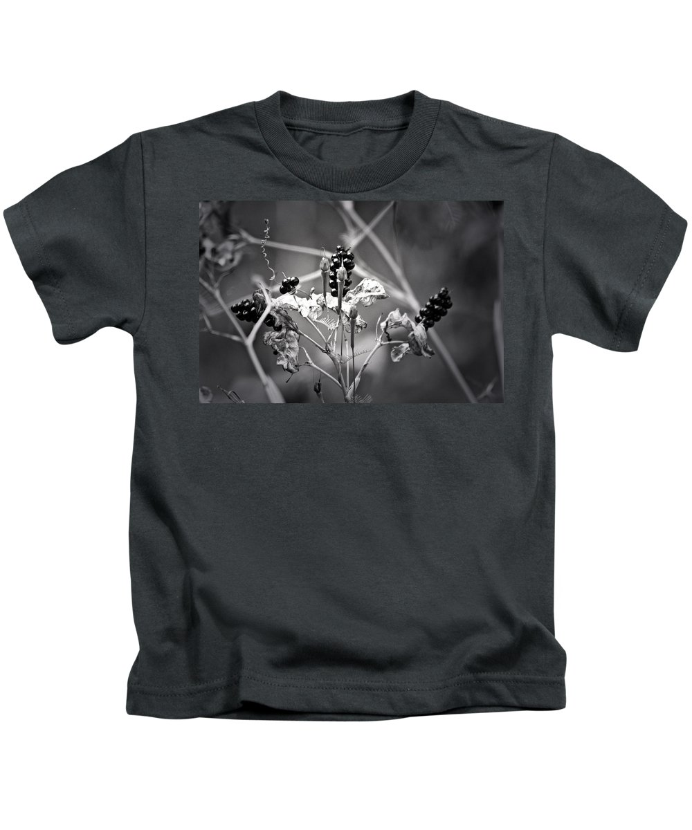 Flower Kids T-Shirt featuring the photograph Gone To Seed Berries And Vines by Teresa Mucha