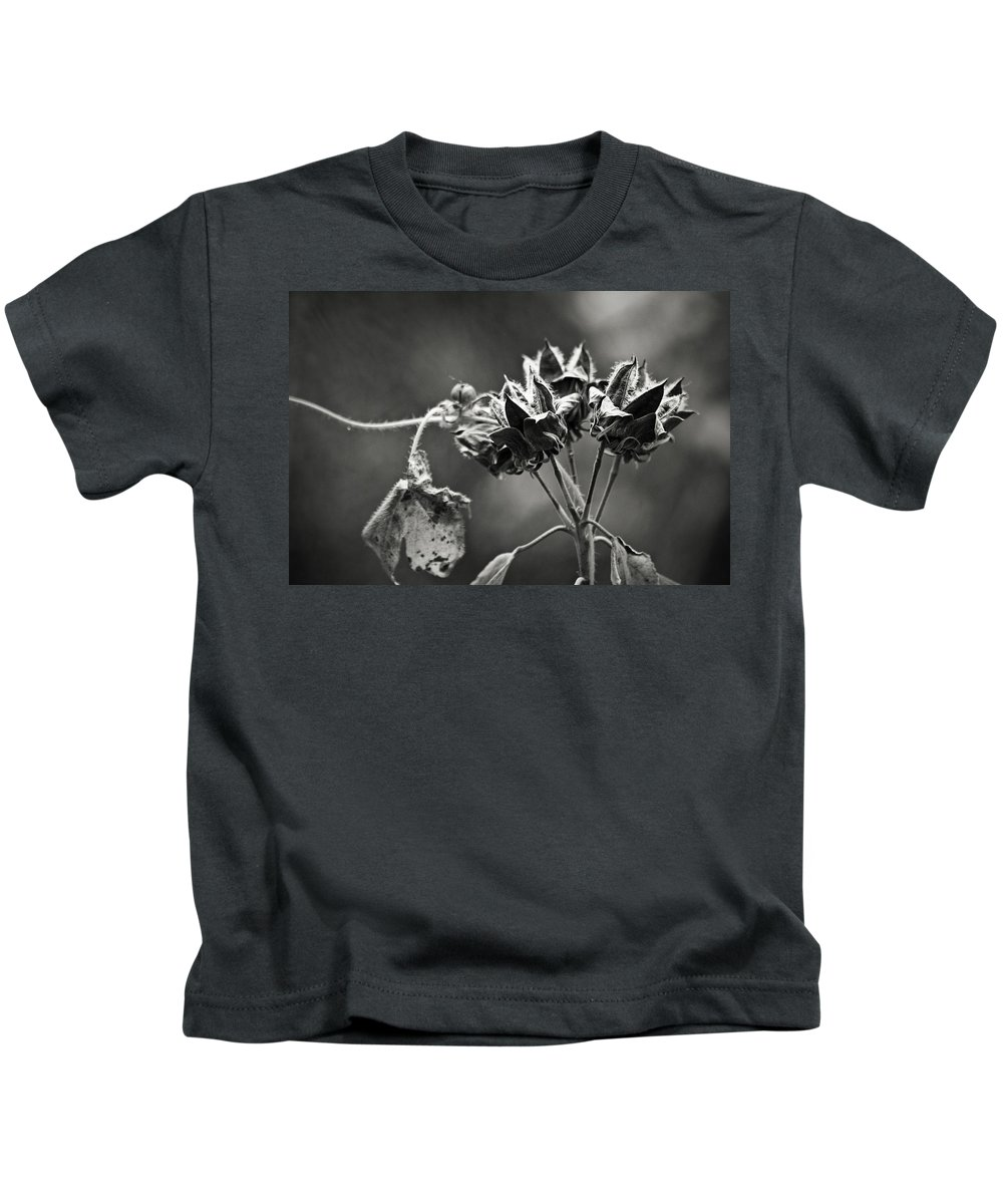 Flower Kids T-Shirt featuring the photograph Gone To Seed Hibiscus by Teresa Mucha