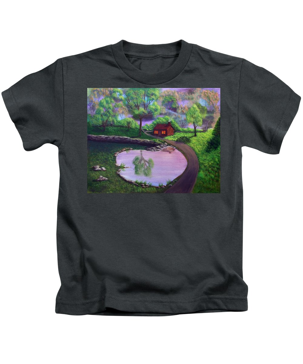 Light Kids T-Shirt featuring the painting Good Spring Morning by Dawn Blair