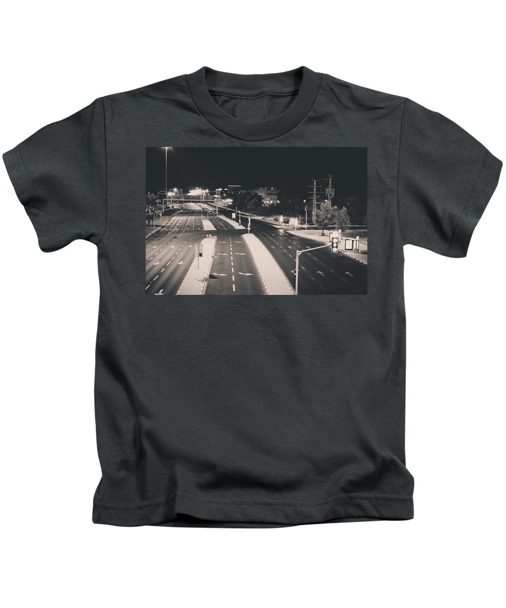 Roads Kids T-Shirt featuring the photograph Goodnight by David Helberg
