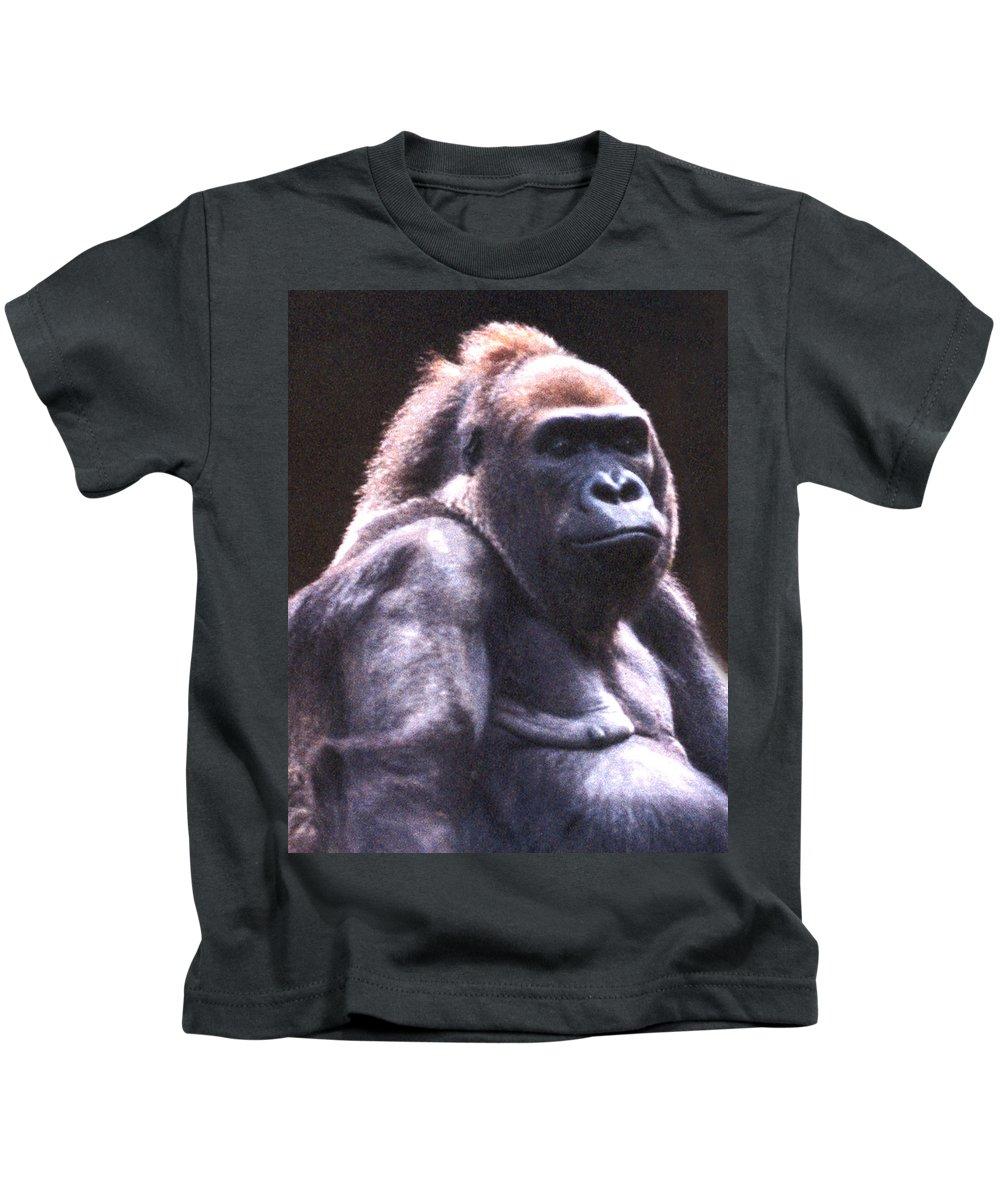 Gorilla Kids T-Shirt featuring the photograph Gorilla by Steve Karol