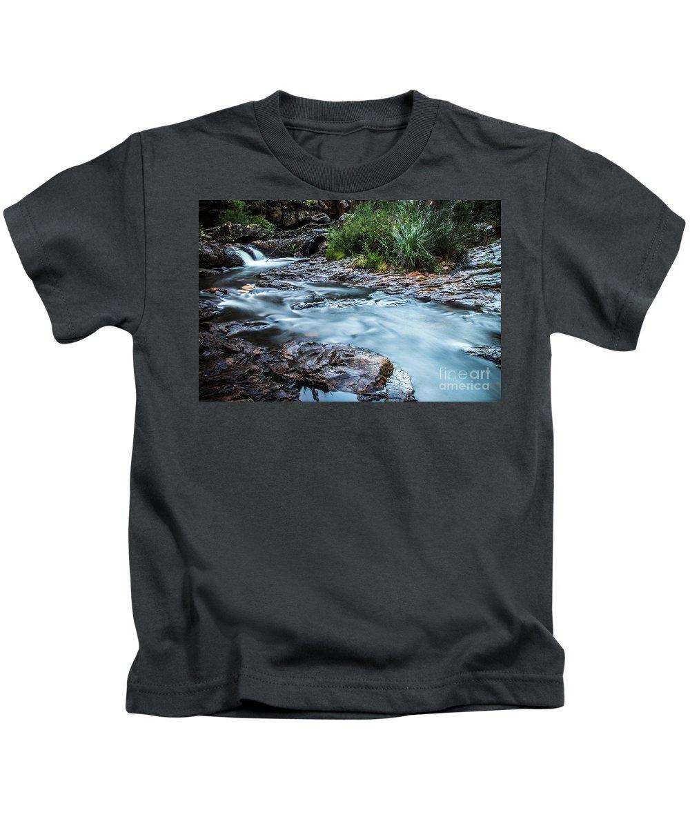 Waterfall Kids T-Shirt featuring the photograph Gossamer Flow by Russell Alexander