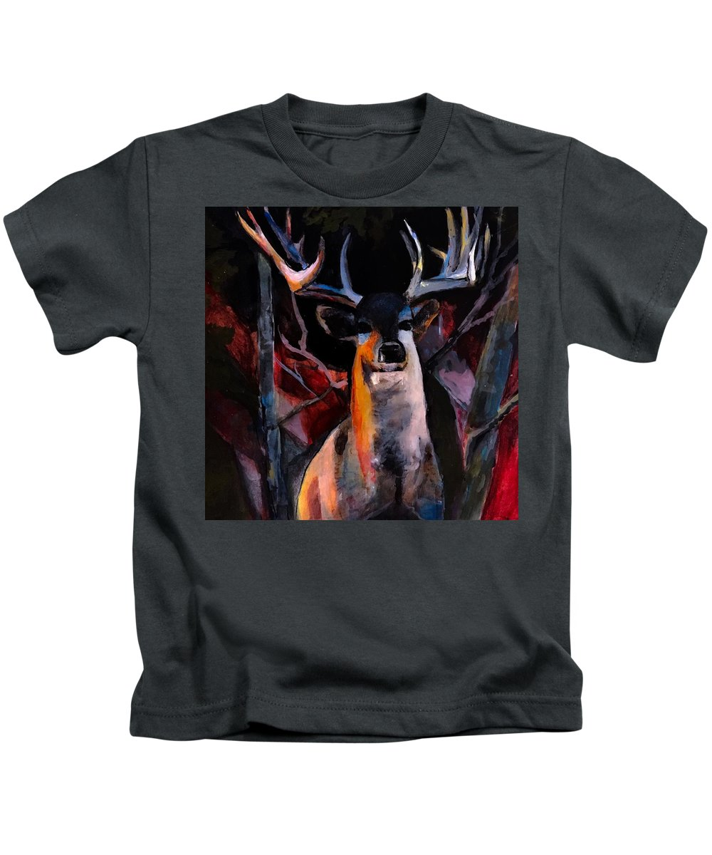 Wilderness Kids T-Shirt featuring the painting Grace Beauty And Wildness by Michele Carter
