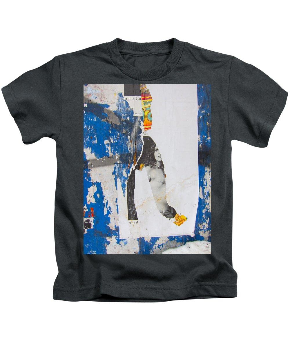 Billboards Kids T-Shirt featuring the photograph Graffiti #1285 by John Stuart