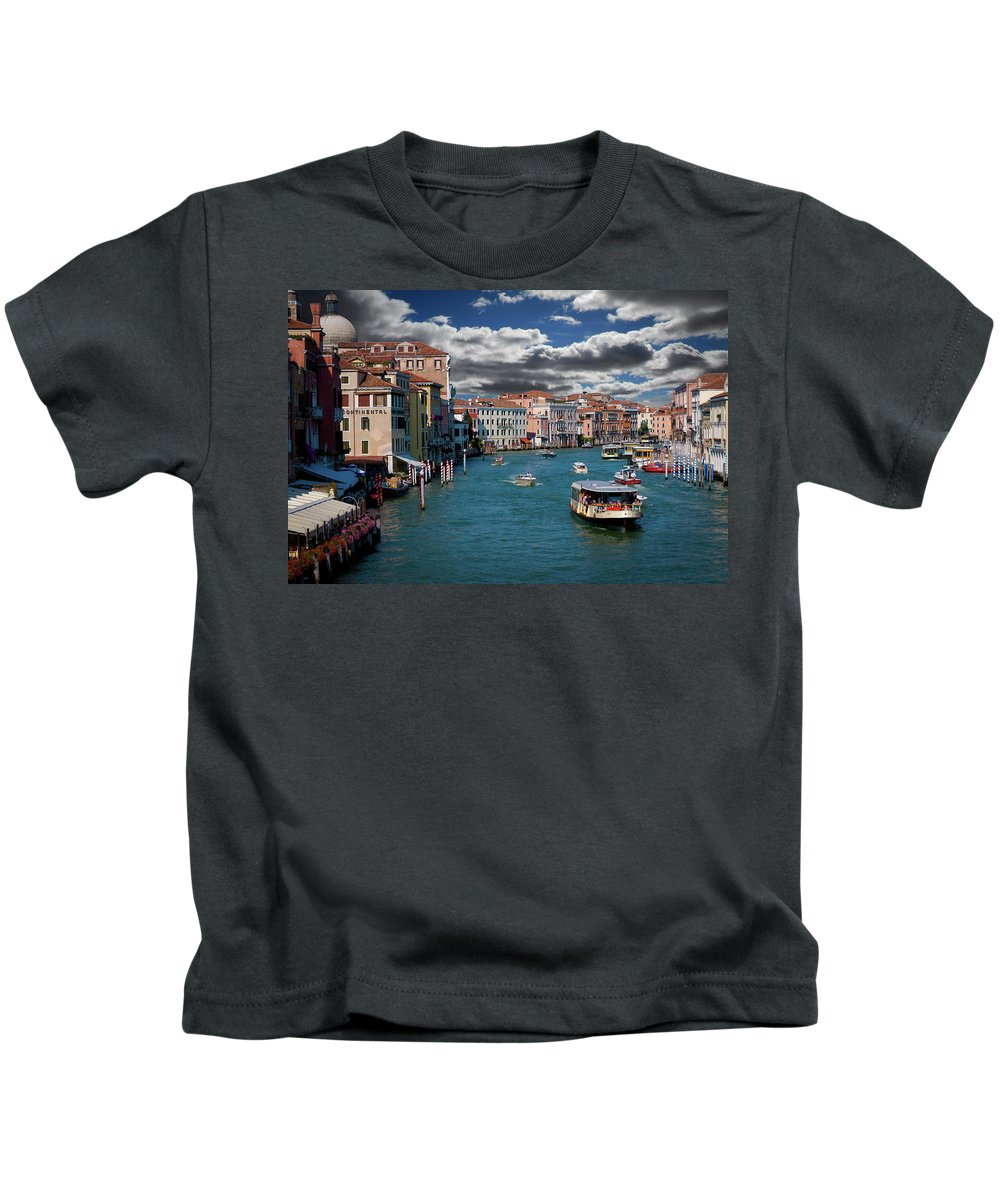 Grand Canal Kids T-Shirt featuring the photograph Grand Canal Daylight by Harry Spitz