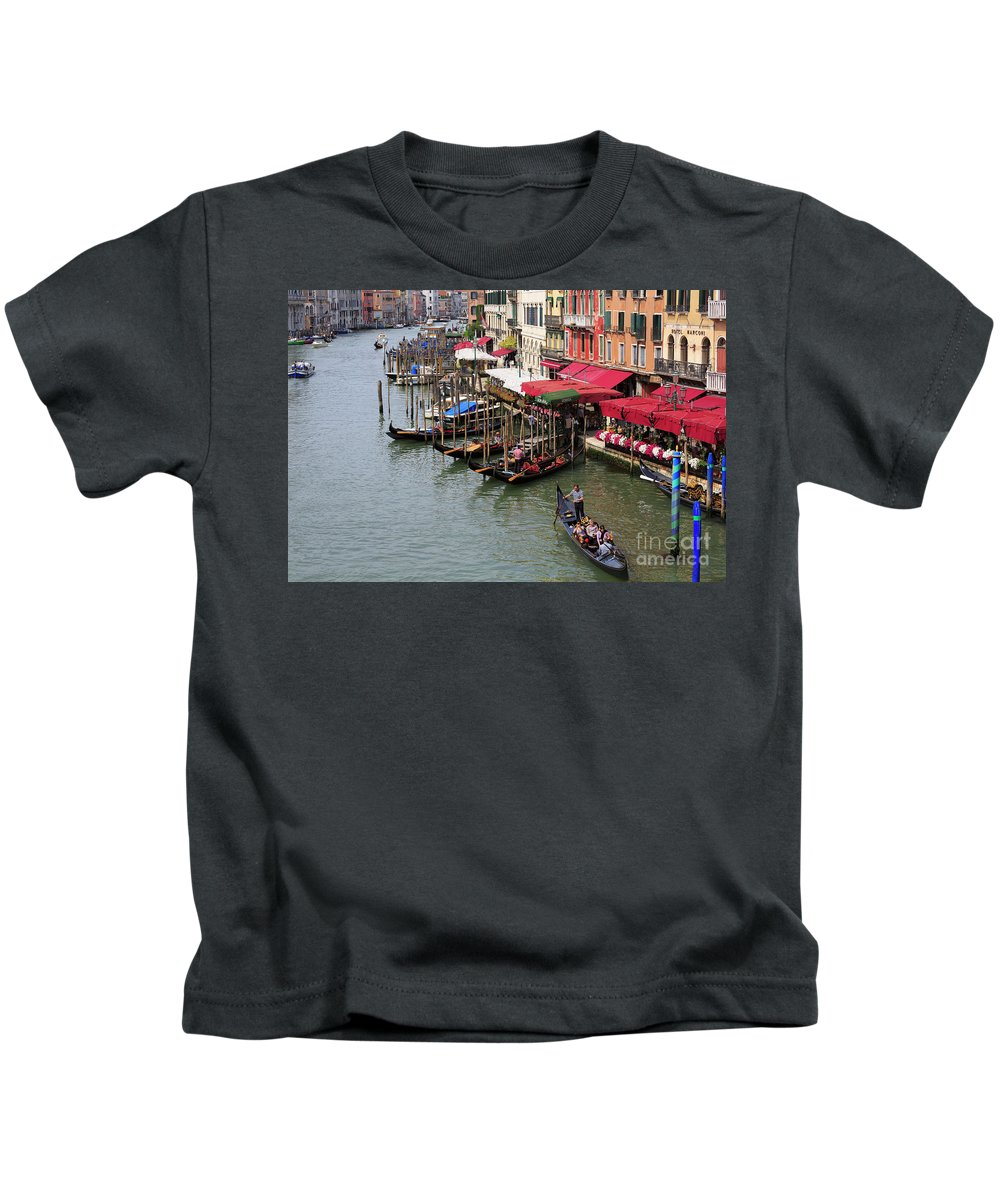 Grand Canal Kids T-Shirt featuring the photograph Grand Canal, Venice, Italy by Louise Heusinkveld
