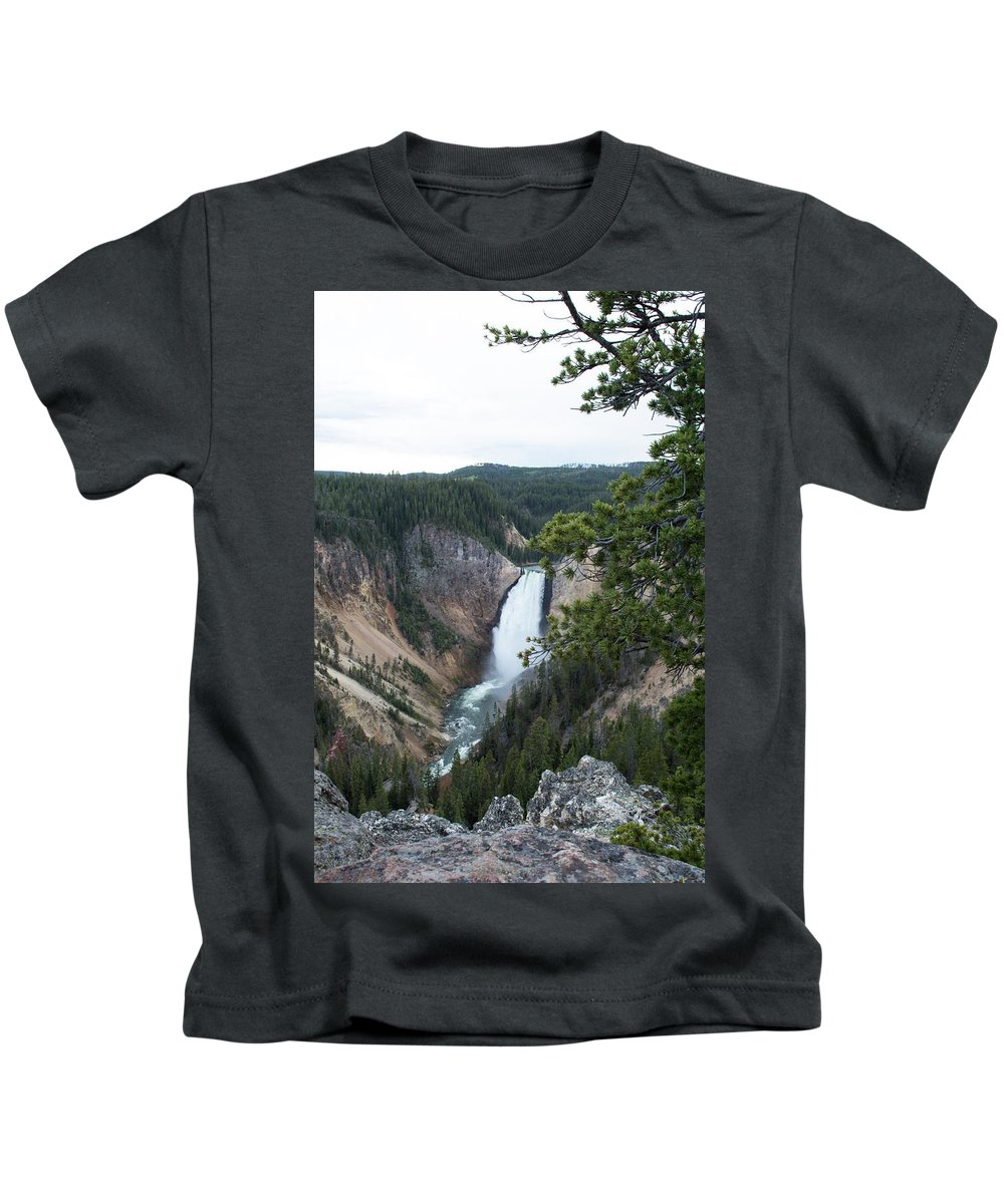 Grand Canyon Kids T-Shirt featuring the photograph Grand Canyon In Wyoming by Linda Kerkau