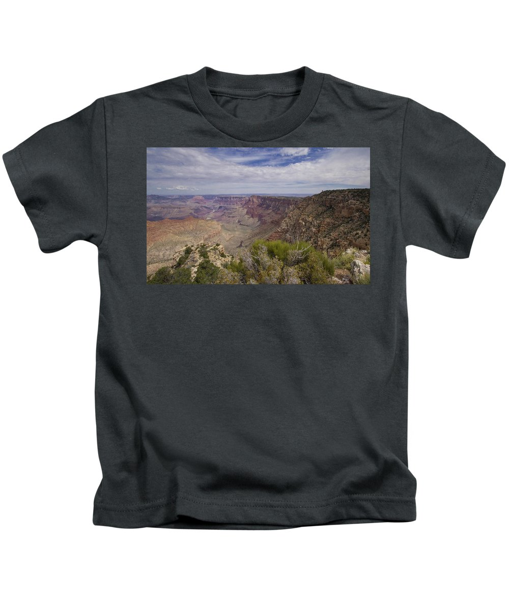 Grand Canyon Kids T-Shirt featuring the photograph Grand Canyon's Desert View by Stephanie McDowell