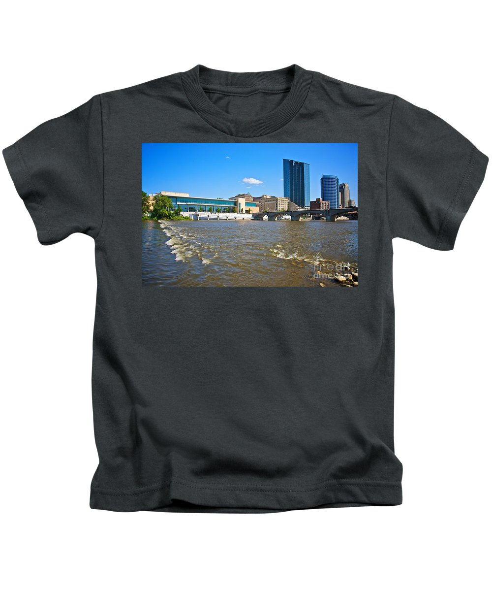 City Kids T-Shirt featuring the photograph Grand Rapids Mi-6 by Robert Pearson
