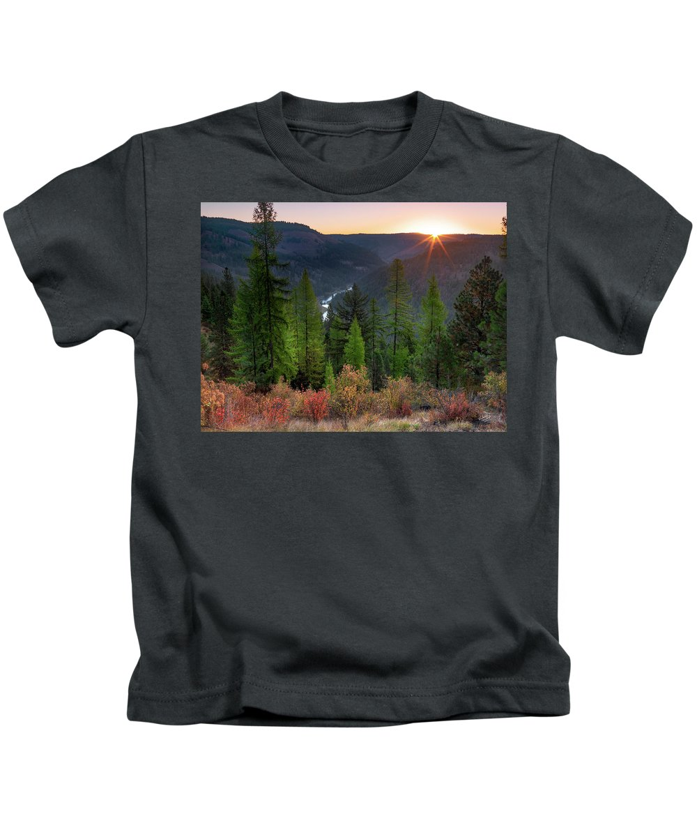Beautiful Kids T-Shirt featuring the photograph Grande Ronde Sunrise by Leland D Howard
