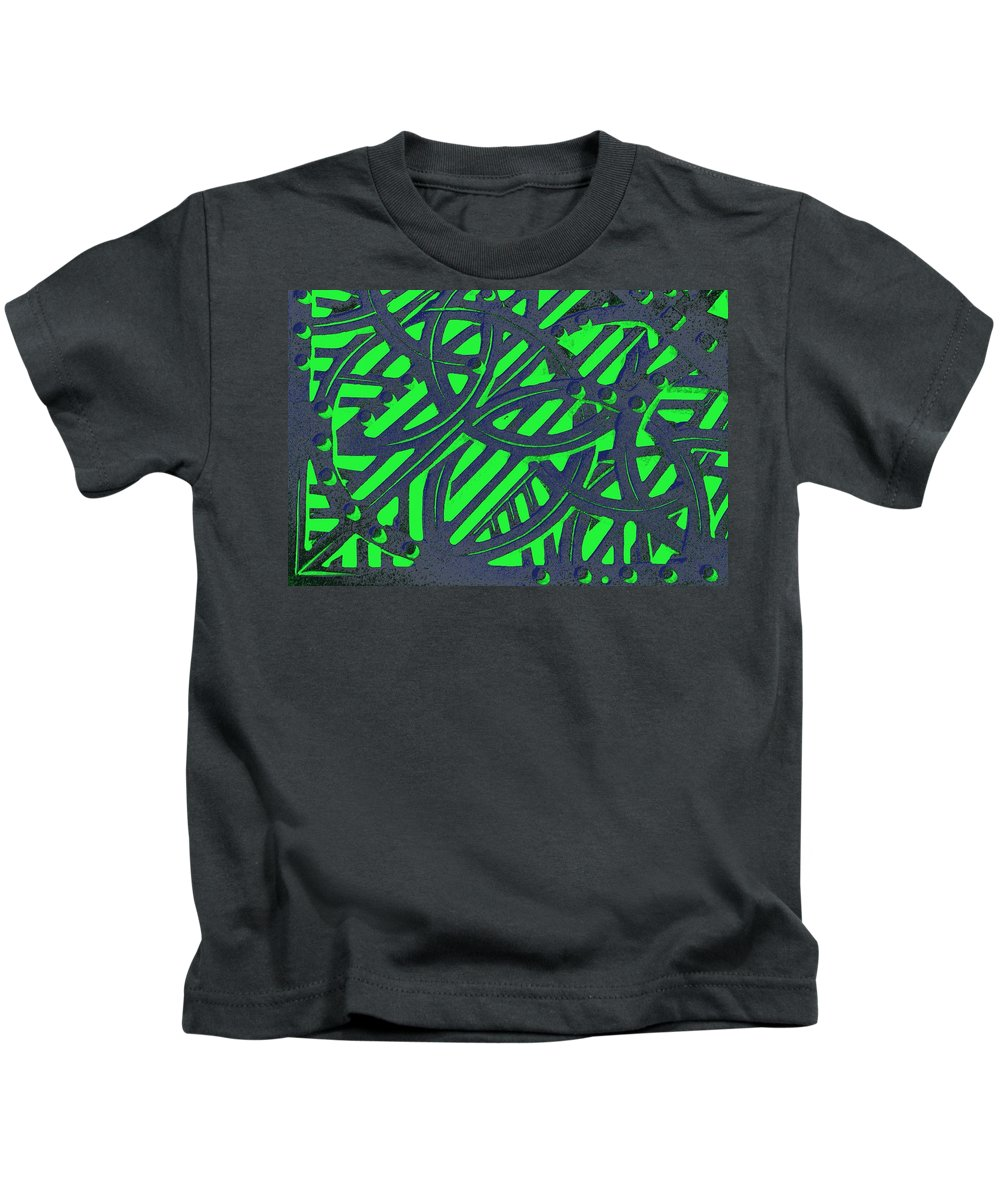 Green Grate Kids T-Shirt featuring the photograph Green Grate by Donna Bentley
