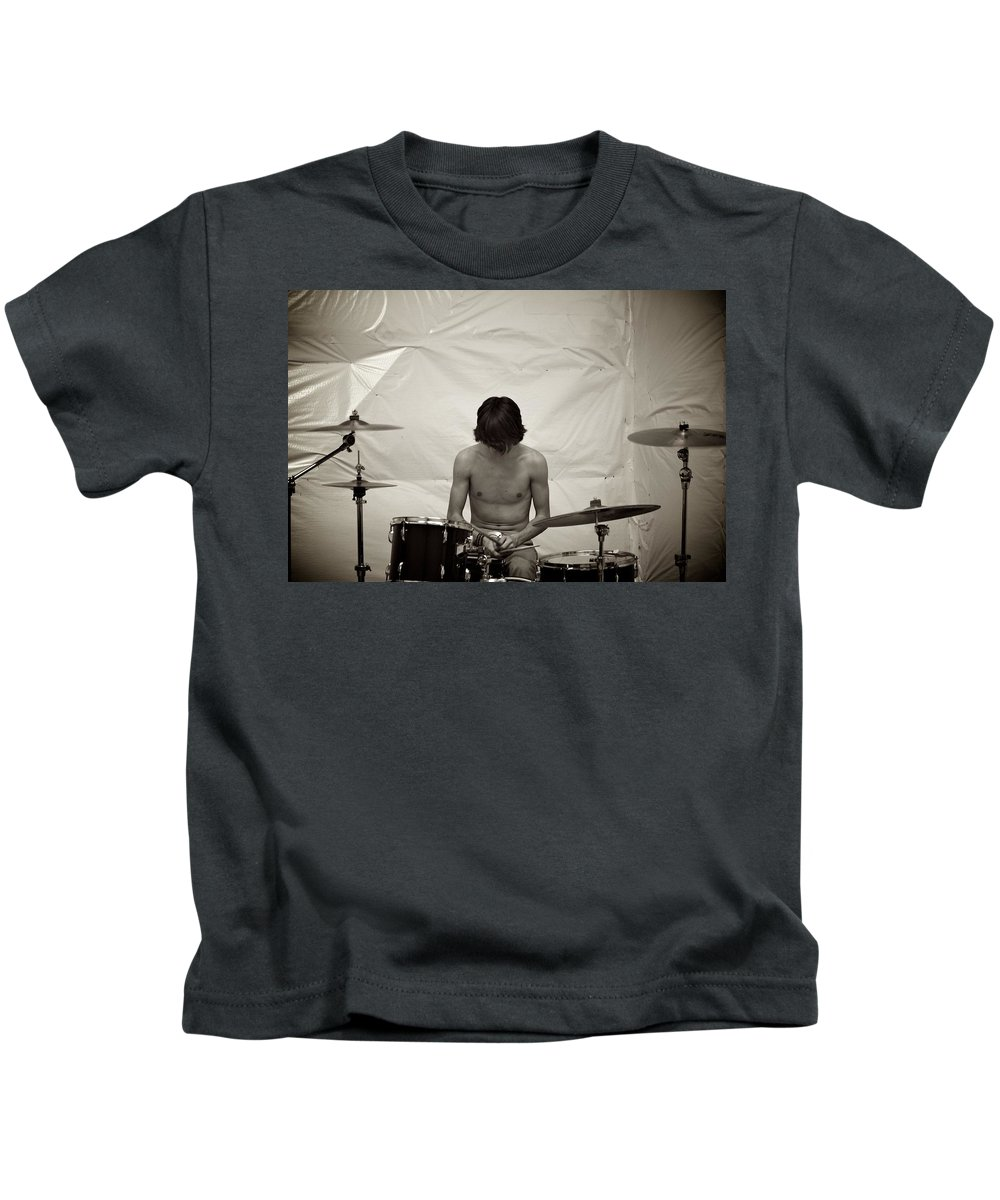 Kids T-Shirt featuring the photograph Grohl by Karis Tsolomitis
